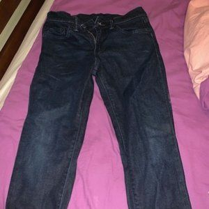 Levi Men's Dark Wash Slim Jeans 29 X 30